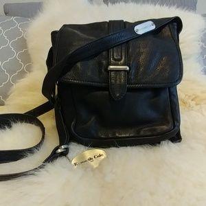 Kenneth Cole black leather crossbody purse